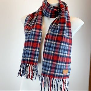 Coach Cashmere lambs wool plaid tartan scarf Italy